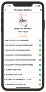 Pilates for Athletes iOS App & Android App